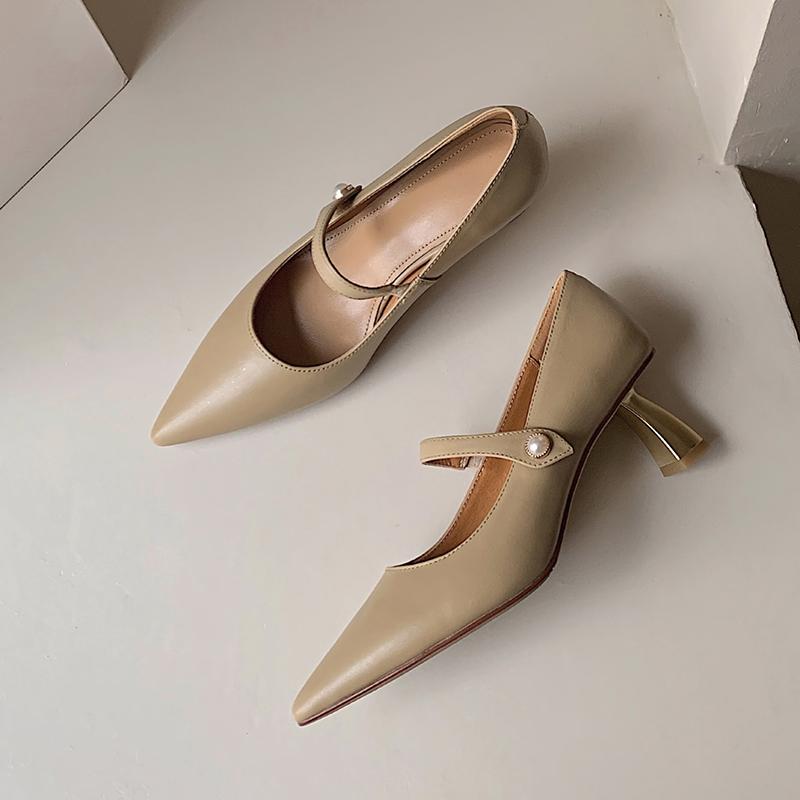 Chiko Tammy Pointed Toe Curved Heels|Kitten Heels Pumps