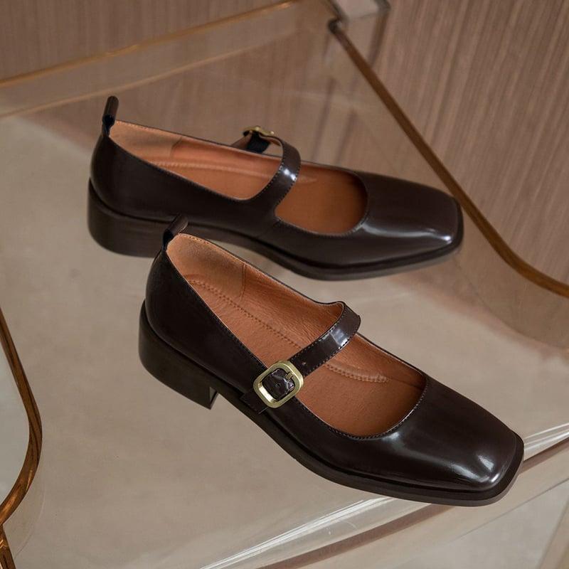 Chiko Xami Square Toe Block Heels Pumps