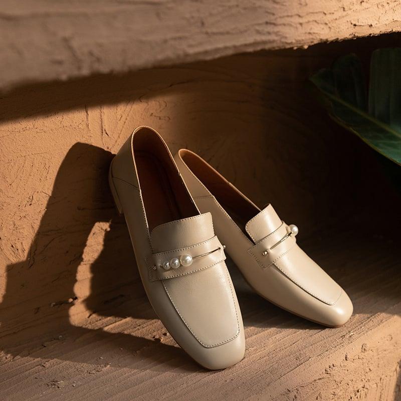 Chiko Anala Square Toe Block Heels Loafer
