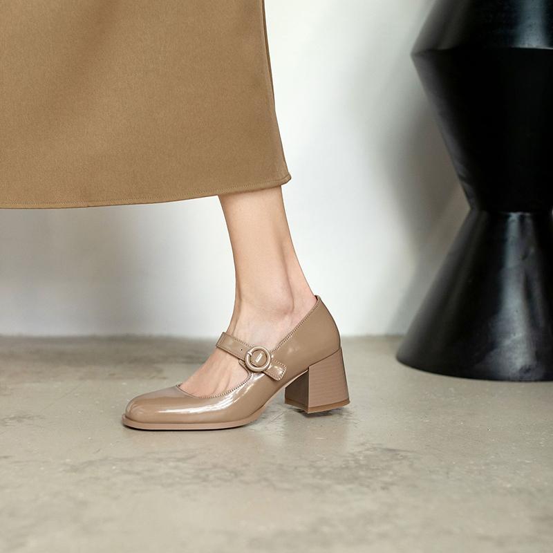 Chiko Uzzia Square Toe Block Heels Pumps