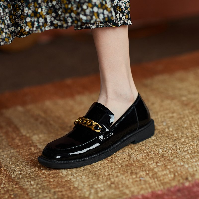 Chiko Sharonda Square Toe Block Heels Loafer