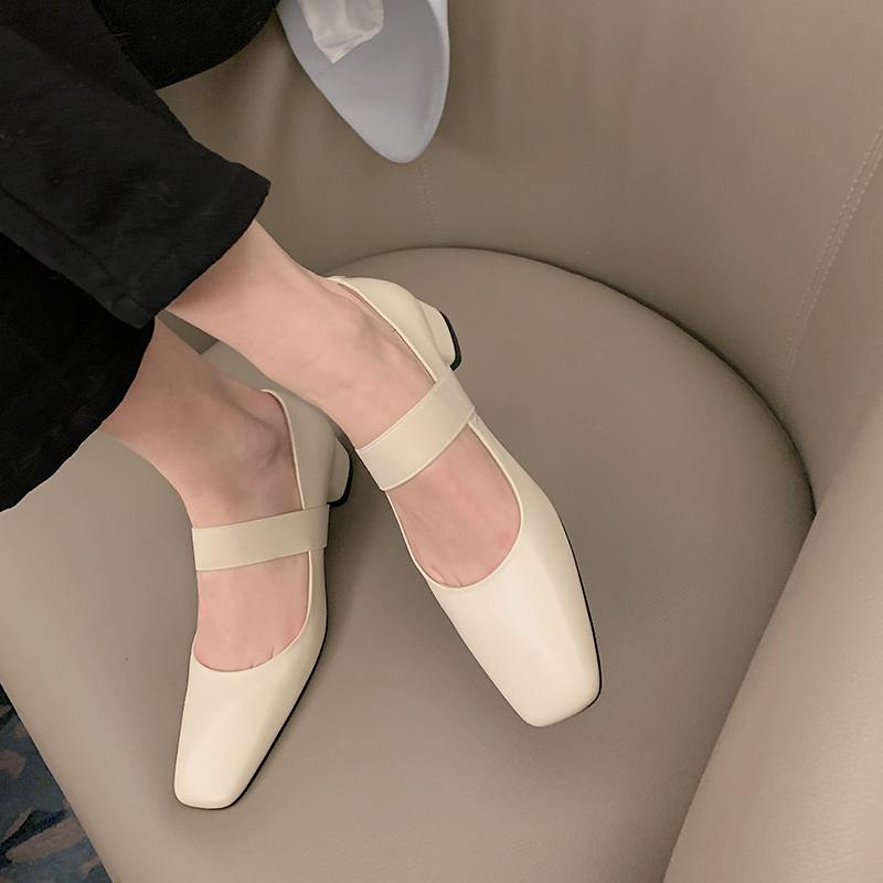 Chiko Shira Square Toe Block Heels Pumps