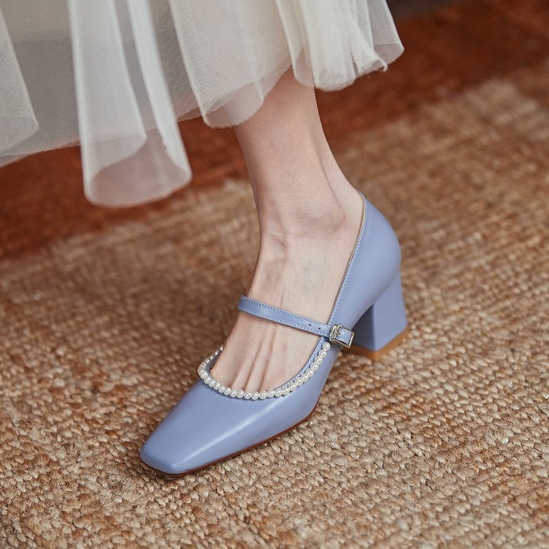 Chiko Susan Square Toe Block Heels Pumps