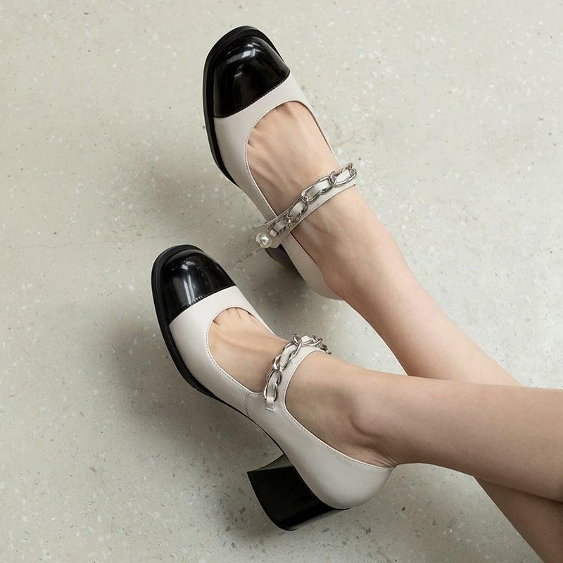 Chiko Susannah Square Toe Block Heels Pumps