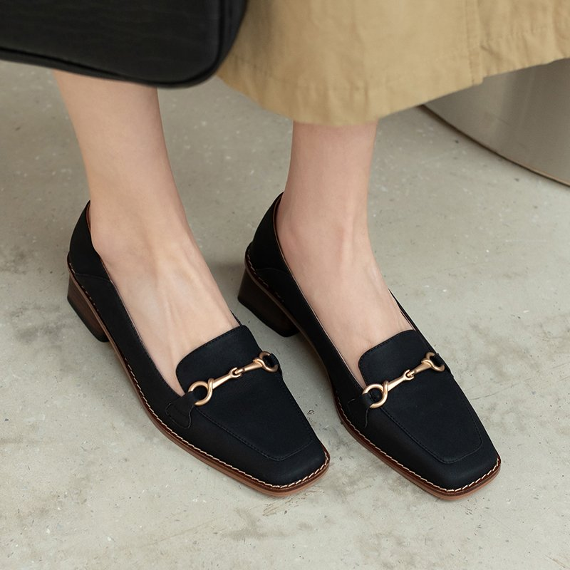 Chiko Tamarah Square Toe Block Heels Loafer