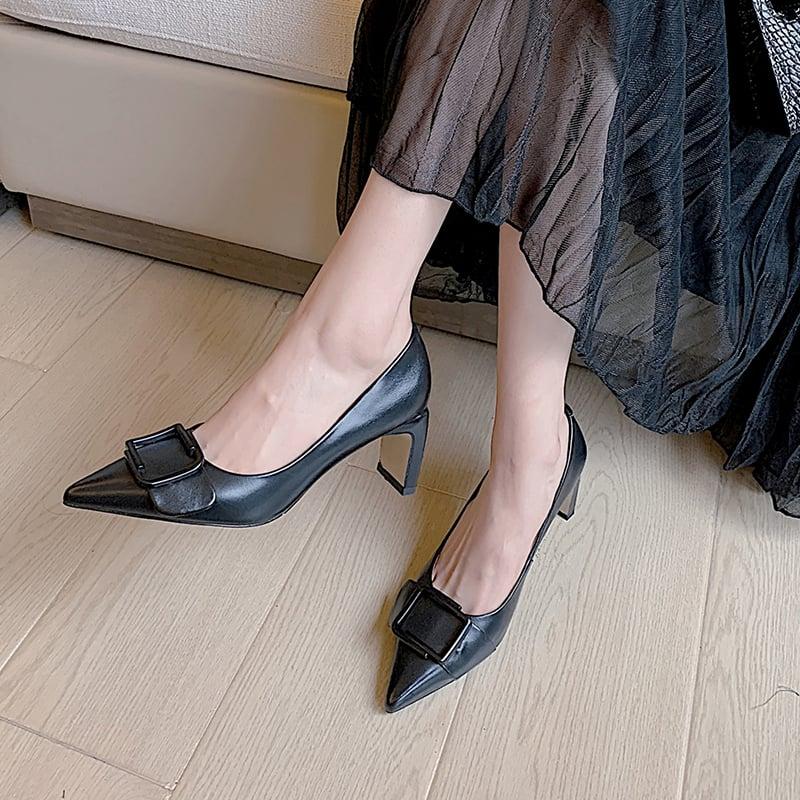 Chiko Thomasina Pointed Toe Chunky Heels Pumps