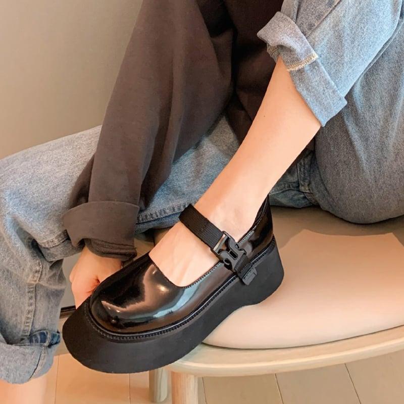 Chiko Opalina Round Toe Flatforms Pumps