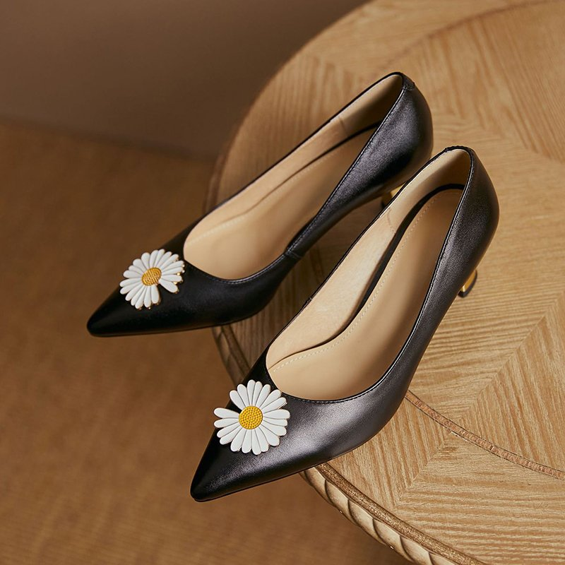 Chiko Lakya Pointed Toe Curved Heels Pumps