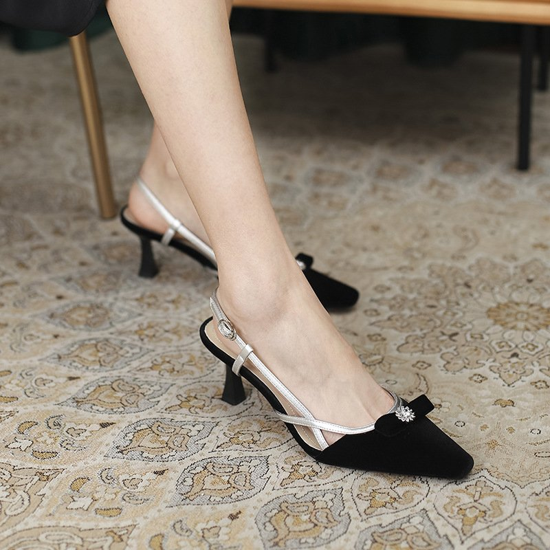 Chiko Sagara Square Toe Kitten Heels Pumps