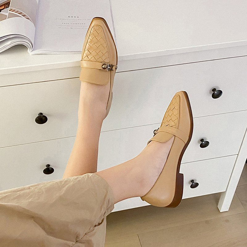 Chiko Sadhana Square Toe Block Heels Loafer