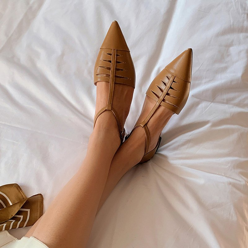 Chiko Padma Pointed Toe Block Heels Pumps