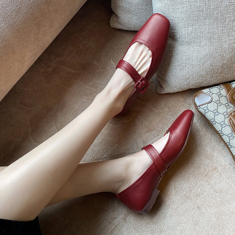 Chiko Deva Square Toe Block Heels Pumps