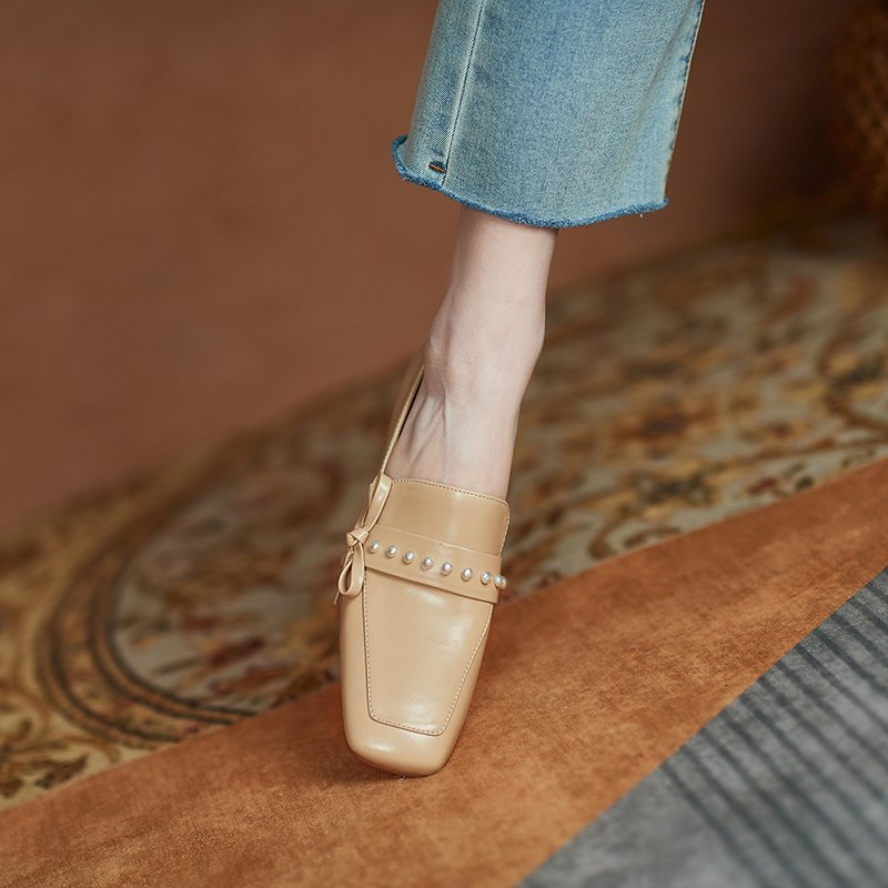 Chiko Jaya Square Toe Block Heels Loafer