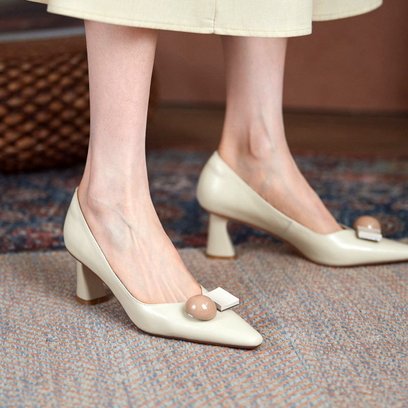 Chiko Mandara Square Toe Block Heels Pumps