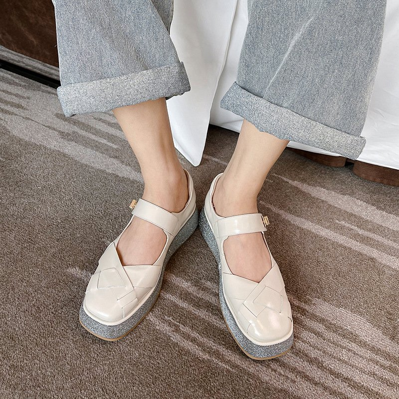 Chiko Mitra Square Toe Flatforms Pumps