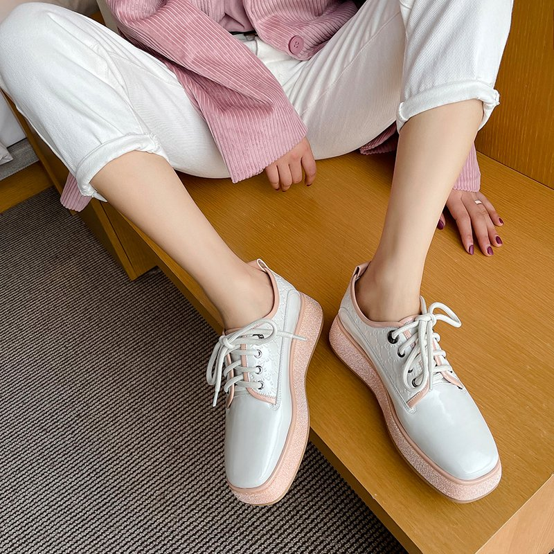 Chiko Narmada Square Toe Flatforms Oxford