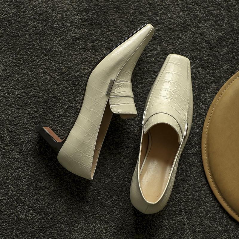 Chiko Sameera Square Toe Chunky Heels Loafer