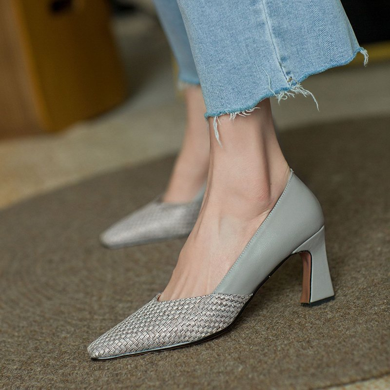 Chiko Saura Square Toe Block Heels Pumps