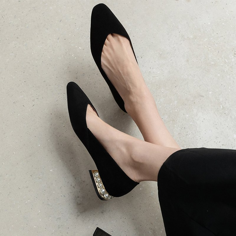 Chiko Sumati Square Toe Block Heels Pumps