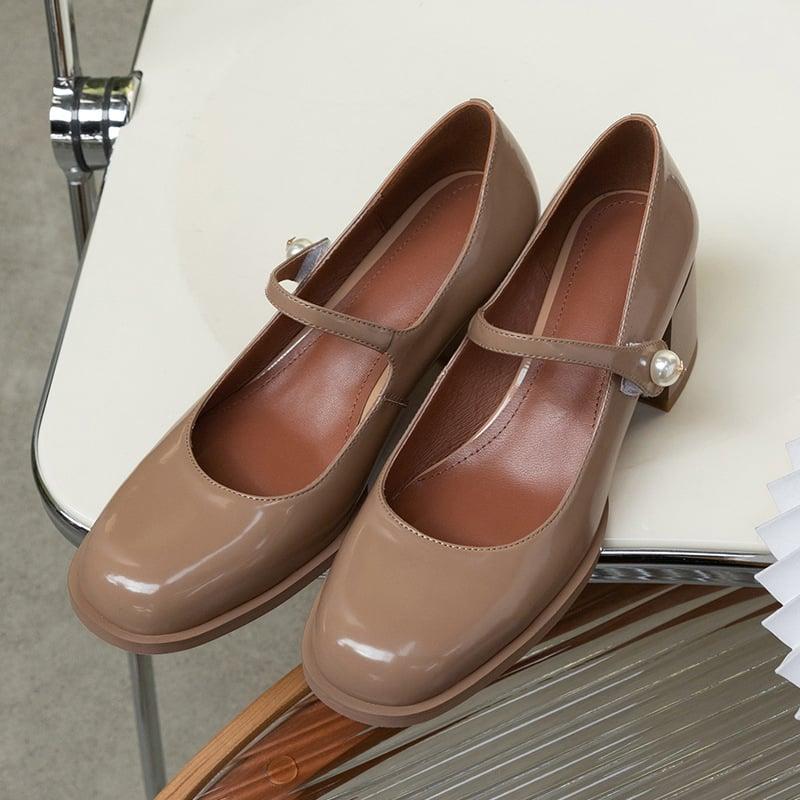 Chiko Taja Square Toe Block Heels Pumps