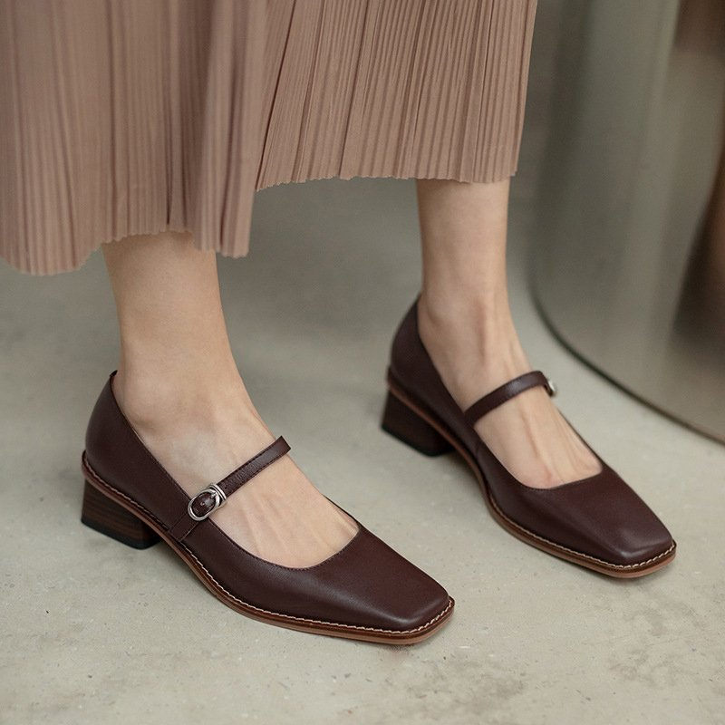 Chiko Tajah Square Toe Block Heels Pumps