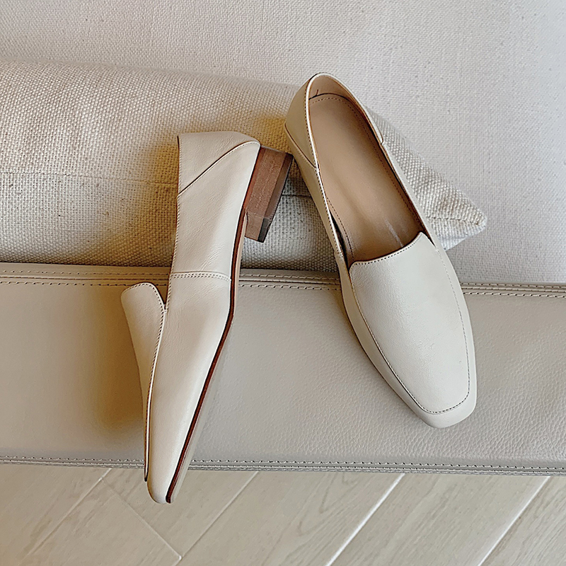 Chiko Tamanna Square Toe Block Heels Loafer
