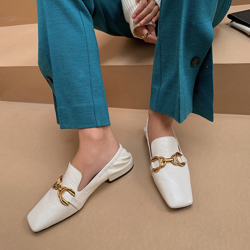 Chiko Soma Square Toe Block Heels Loafer