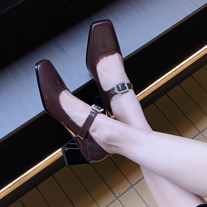 Chiko Syreeta Square Toe Block Heels Pumps