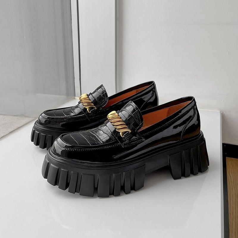 Chiko Tamanna Round Toe Flatforms Loafer