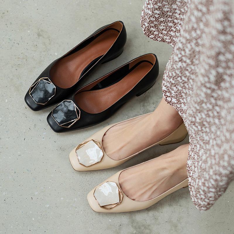 Chiko Vandani Square Toe Block Heels Pumps