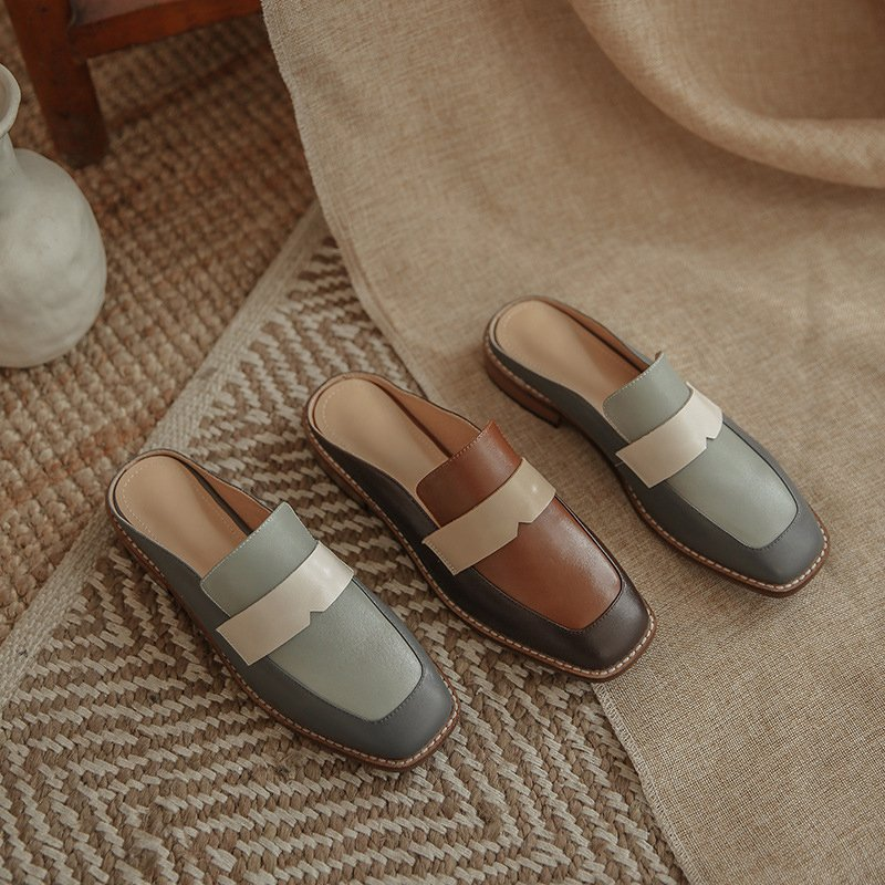 Chiko Shariah Square Toe Block Heels Clogs/Mules