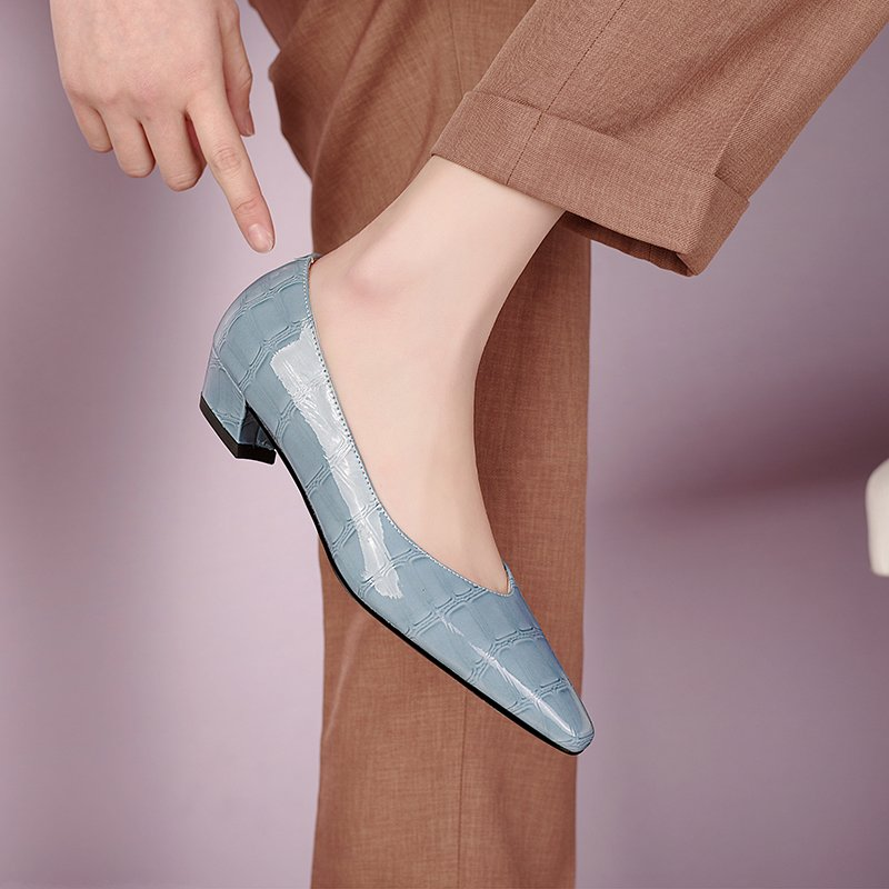 Chiko Zigana Square Toe Block Heels Pumps
