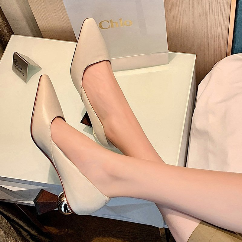 Chiko Neelam Square Toe Block Heels Pumps
