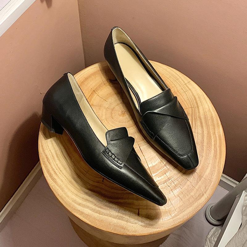 Chiko Payal Square Toe Block Heels Loafer