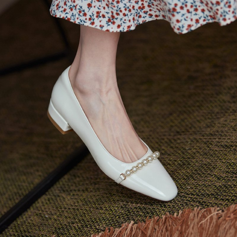 Chiko Sadaf Square Toe Block Heels Pumps