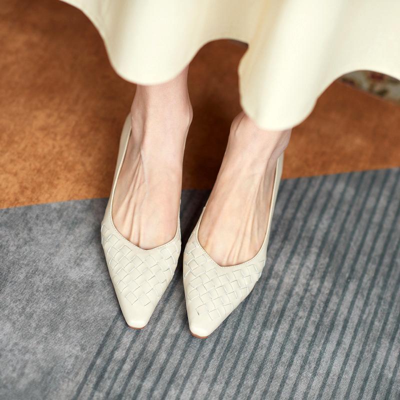 Chiko Shreya Square Toe Kitten Heels Pumps