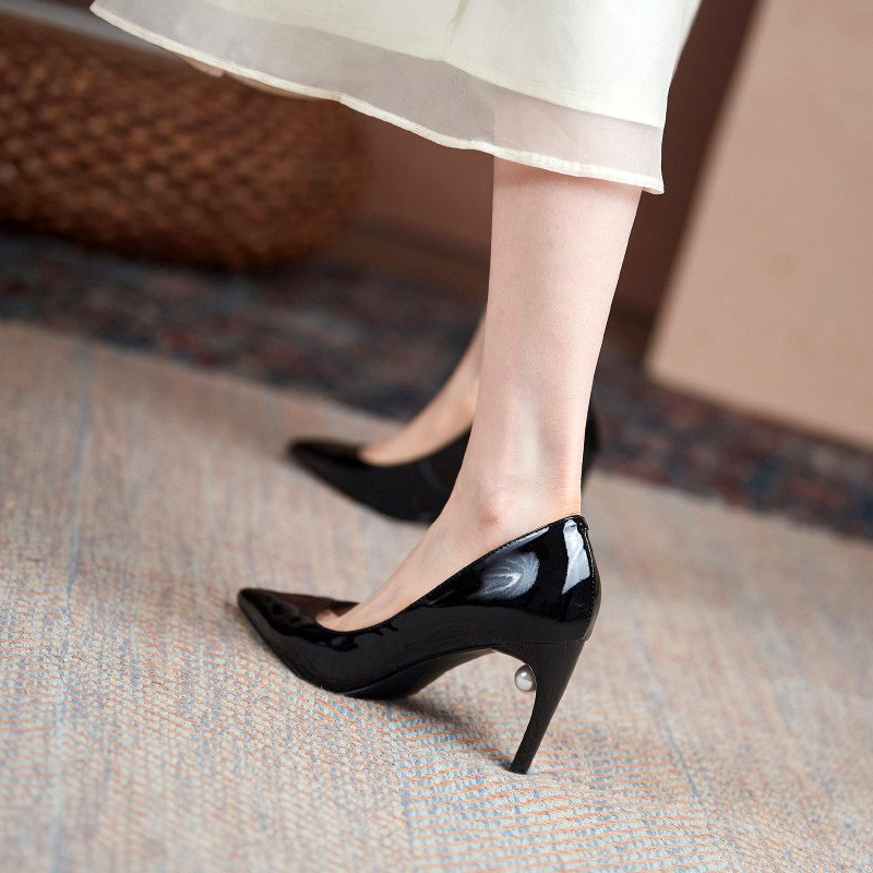 Chiko Adrianna Pointed Toe Curved Heels Pumps