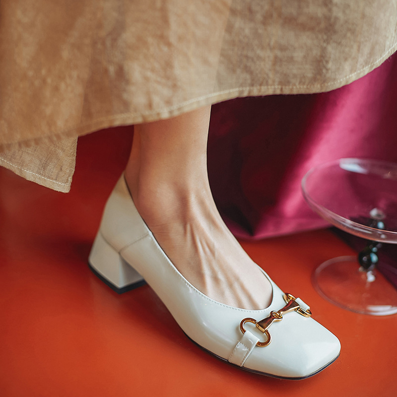 Chiko Deangela Square Toe Block Heels Pumps