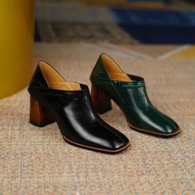 Chiko Benni Square Toe Block Heels Loafer