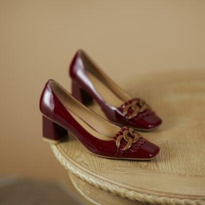 Chiko Bente Square Toe Block Heels Pumps