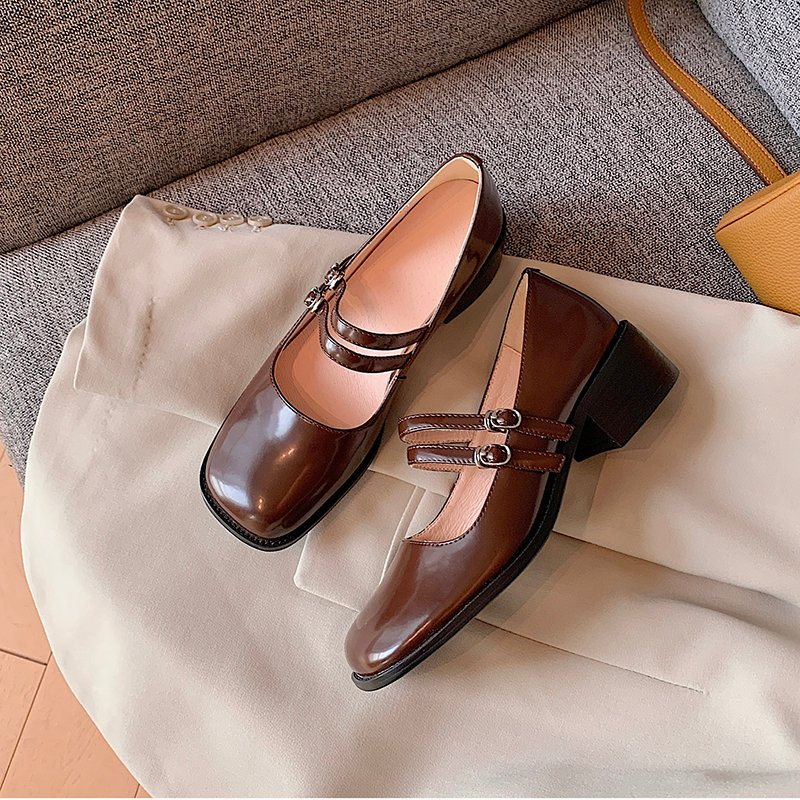 Chiko Bina Square Toe Block Heels Pumps