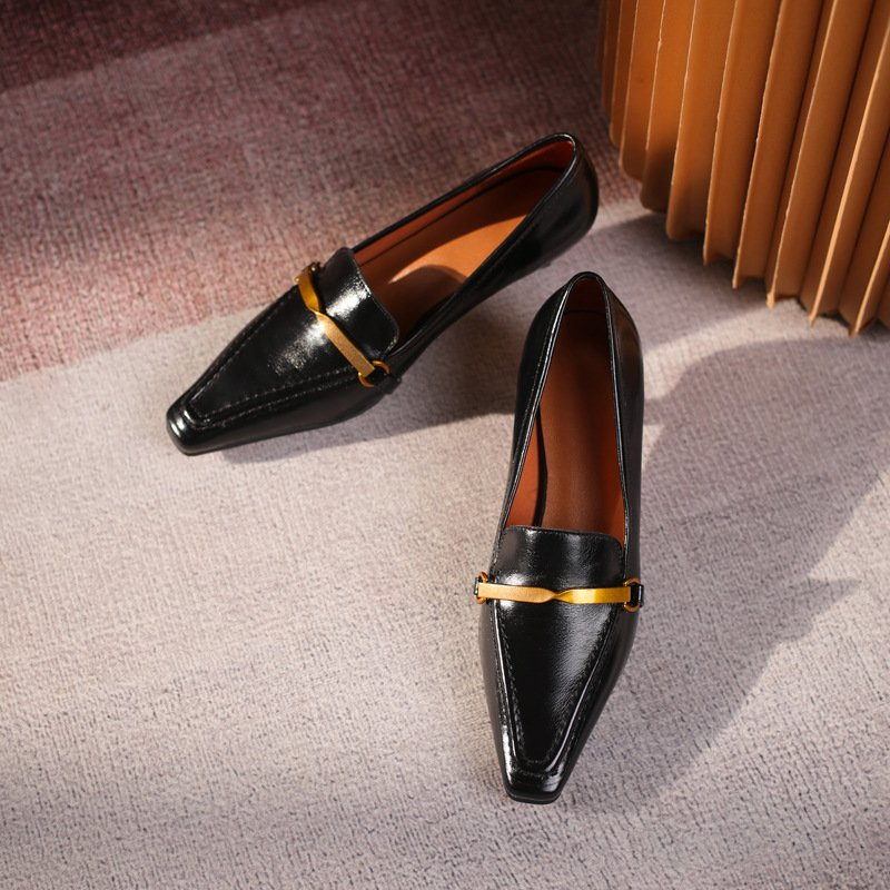 Chiko Callula Square Toe Kitten Heels Loafer