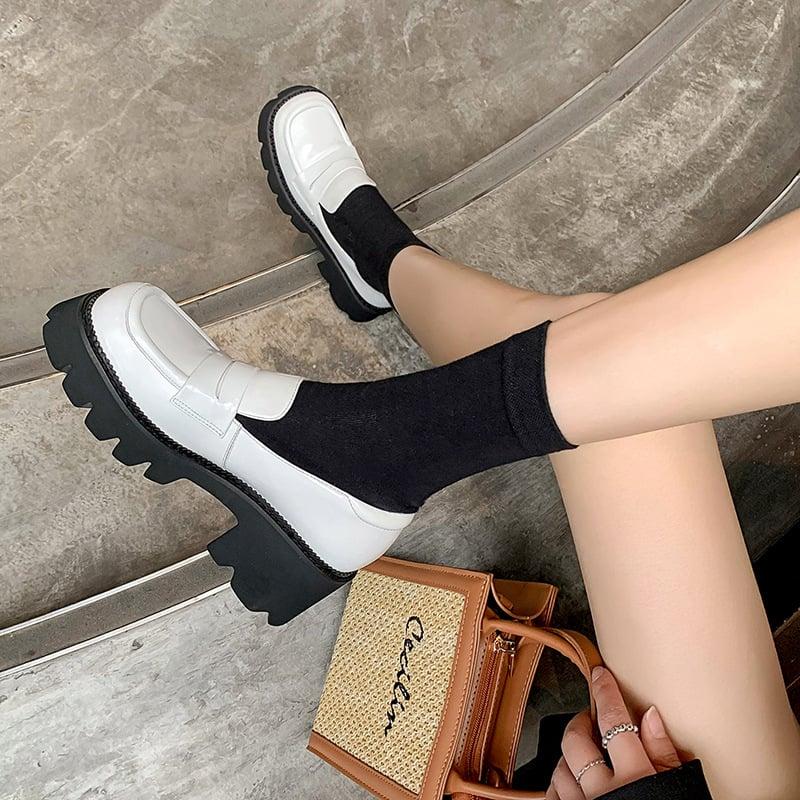 Chiko Calvina Square Toe Block Heels Loafer