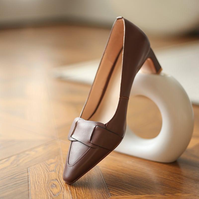 Chiko Candida Square Toe Chunky Heels Pumps