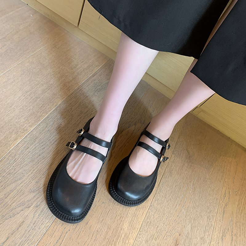 Chiko Celandine Round Toe Block Heels Pumps