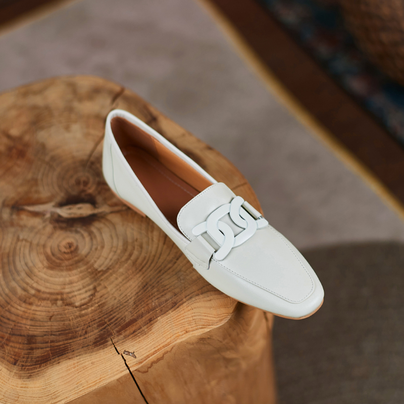 Chiko Ceres Square Toe Block Heels Loafer