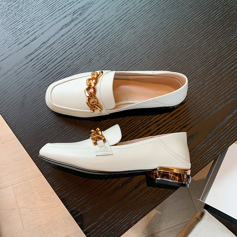 Chiko Charity Square Toe Block Heels Loafer