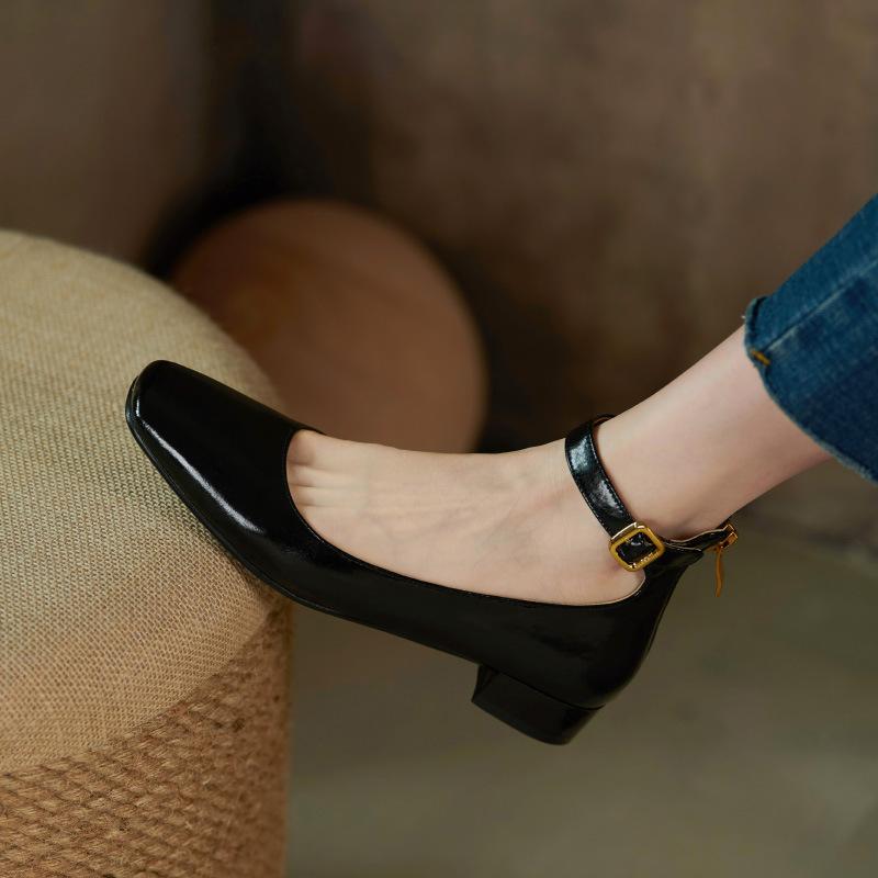 Chiko Custodia Square Toe Block Heels Pumps