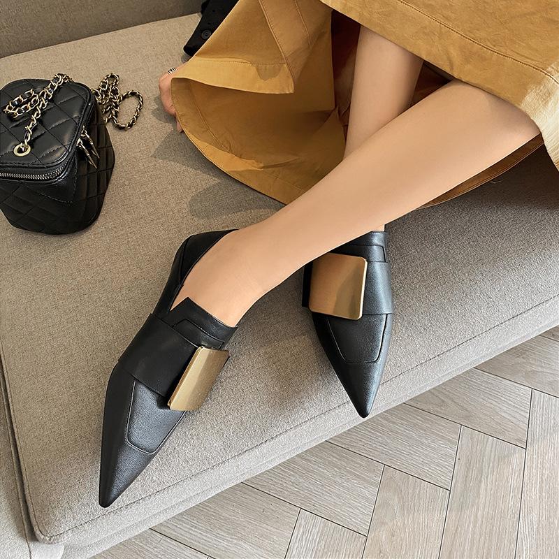 Chiko December Pointed Toe Block Heels Loafer