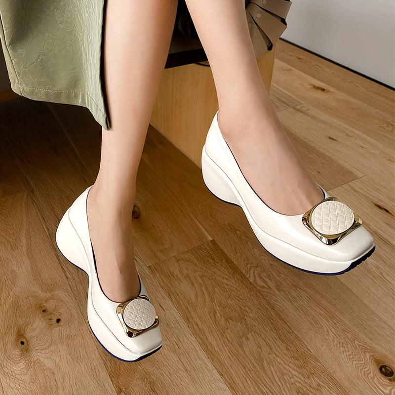 Chiko Derfuta Square Toe Flatforms Pumps